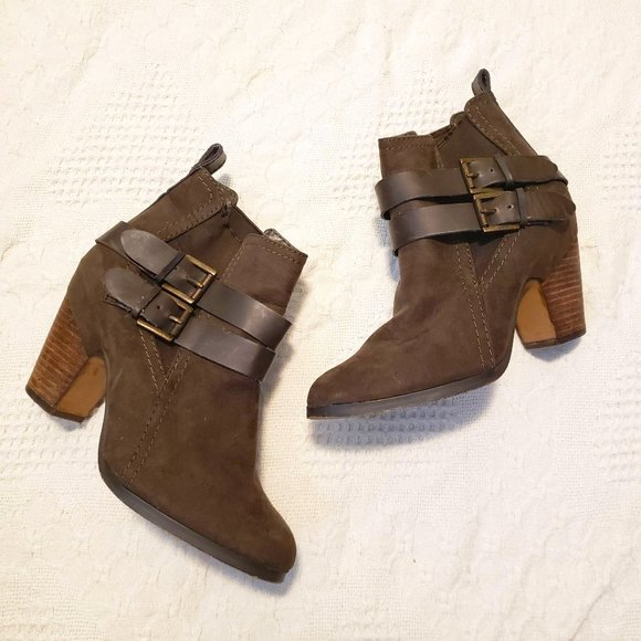 Crown Vintage Olive Green Ankle Boot Leather Strap